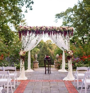 Photo of a wedding ceremony at Gramercy Mansion