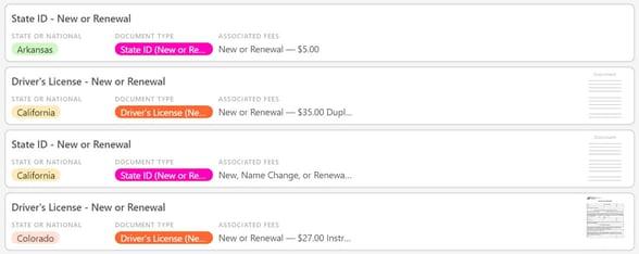 Screenshot of ID change processes from Trans Lifeline