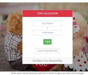 Screenshot of EldersDating.com quiz