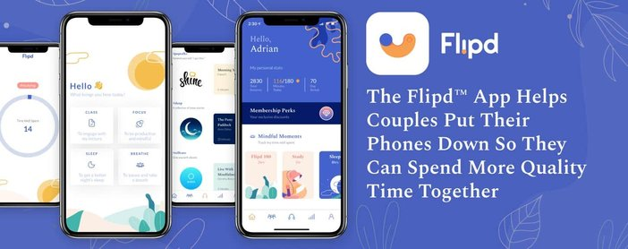 The Flipd™ App Helps Couples Put Their Phones Down So They Can Spend More Quality Time Together