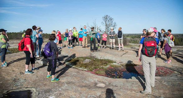 Photo of group on top of a monadnock formation