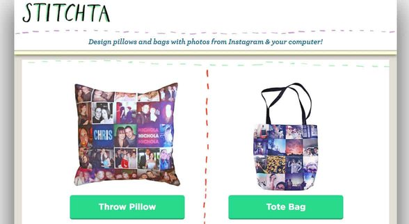 Screenshot of Stitchta homepage