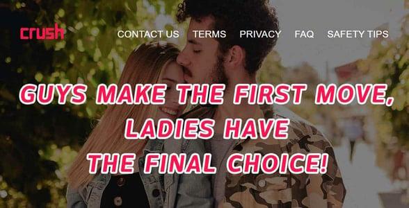 Screenshot from the Crush website