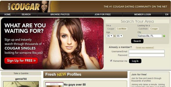 Screenshot of Date a Cougar