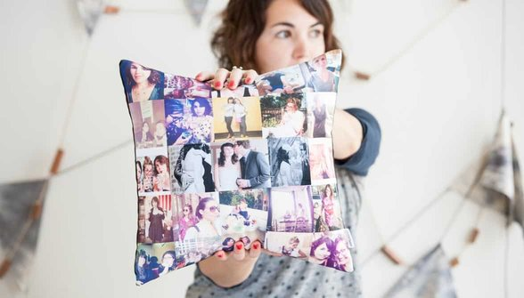 Photo of Stitchta throw pillow