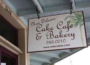Photo of New Orleans Cake Café & Bakery entrance sign