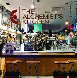 The Alchemist's Kitchen window