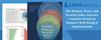 Women, Peace, and Security Index Measures Women's Well-Being