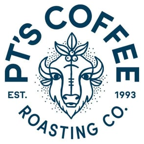 The PT's Coffee logo