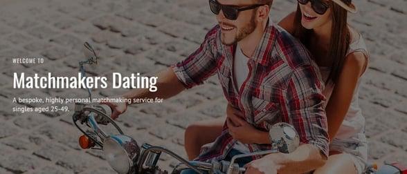 Screenshot of Matchmakers Dating website