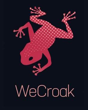 The WeCroak logo