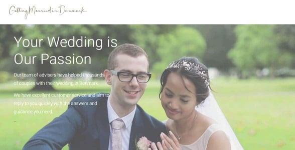 Screenshot of Getting Married in Denmark