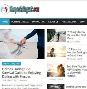 Screenshot of HerpesDatingWeb.com