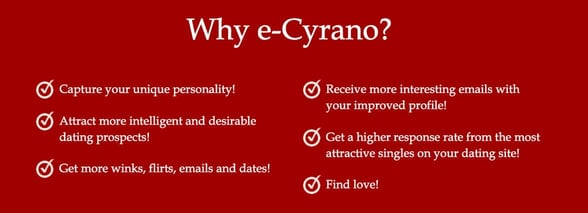 Screenshot from e-Cyrano website
