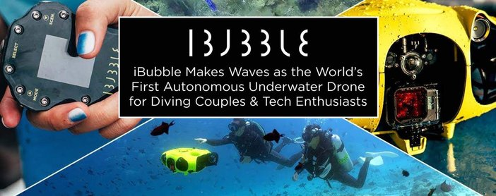 Ibubble Is The First Autonomous Underwater Drone For Diving Couples