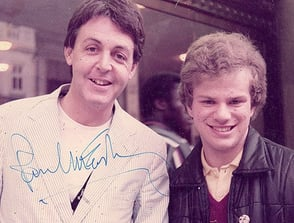 Photo of Richard Porter and Paul McCartney