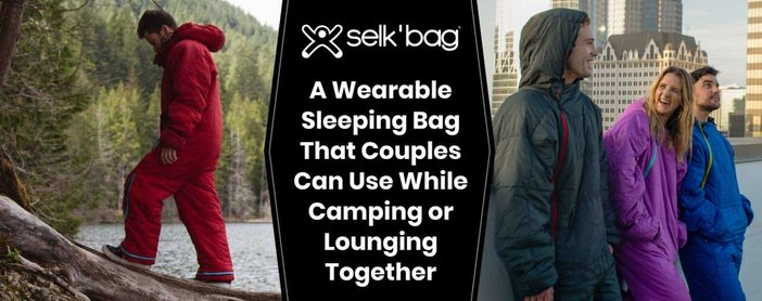 Selk'bag: A Wearable Sleeping Bag That Couples Can Use While Camping or Lounging Together