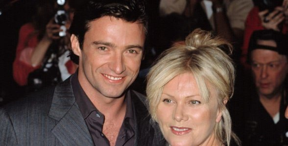 Photo of Hugh Jackman and his wife