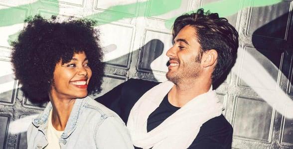 Photo of an interracial couple