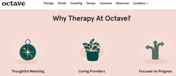Screenshot of Octave's website