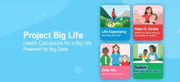 Screenshot of Project Big Life calculators