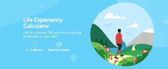 Screenshot of Project Big Life's Life Expectancy Calculator