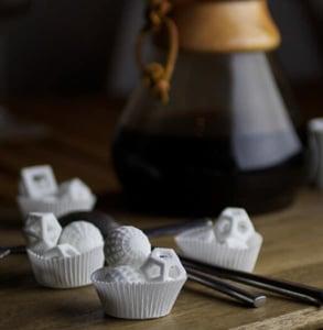 Photo of hollow sugar shapes