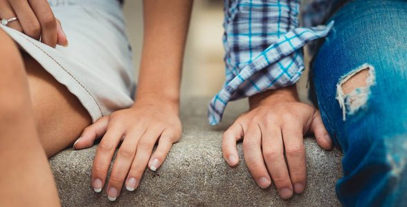 Photo of a couple's hands