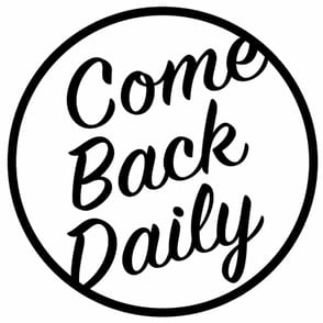 The Come Back Daily CBD logo
