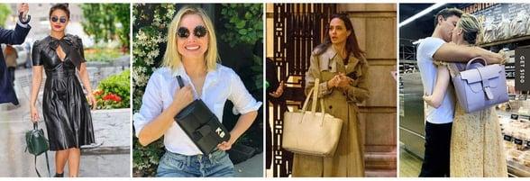 Screenshot of celebrities with SENREVE bags