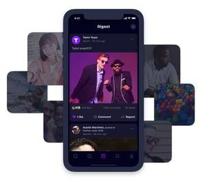 Screenshots from TAIMI app