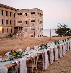Photo of a private event at Angel Island
