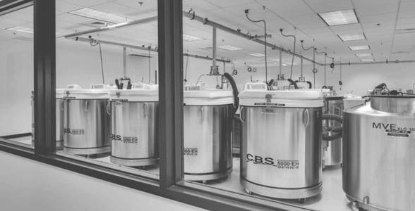 Photo of a sperm storage facility