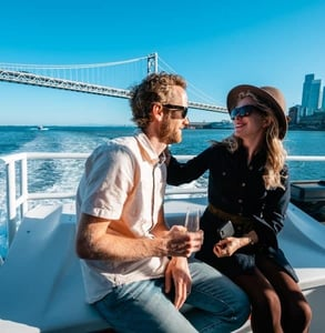 Photo of a couple on the Bay