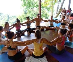Photo of a yoga class