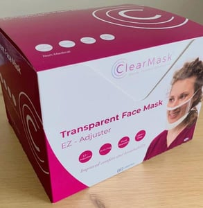 Photo of a ClearMask box