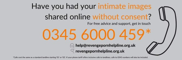 Screenshot of Revenge Porn Helpline banner