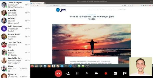 Screenshot of Jami