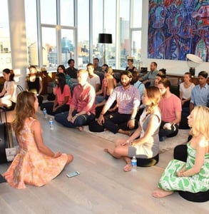 Photo of a meditation class