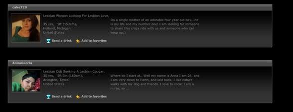 Screenshot of LCD profiles