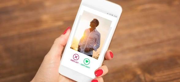 Photo of a swiping app