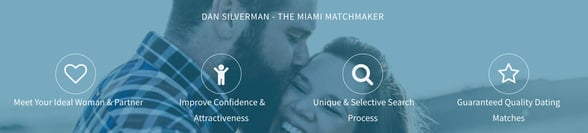 Screenshot from the Miami Matchmaker website
