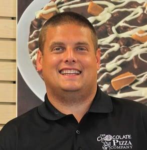 Photo of Ryan Novak, owner of Chocolate Pizza