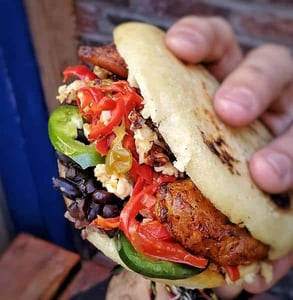 Photo of an arepa