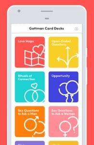 Screenshot of the Gottman app