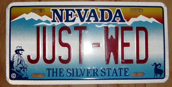 Photo of vanity license plate