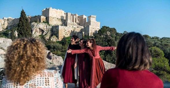 Photo of group on Alternative Athens tour