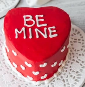 Photo of a Valentine's Day cake