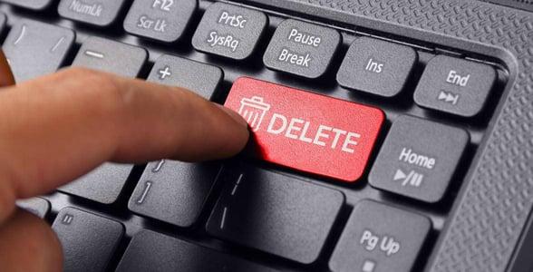 Photo of a delete button