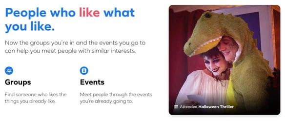 Screenshot from Facebook Dating